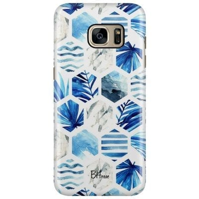 Blue Design Case Samsung S7 Edge