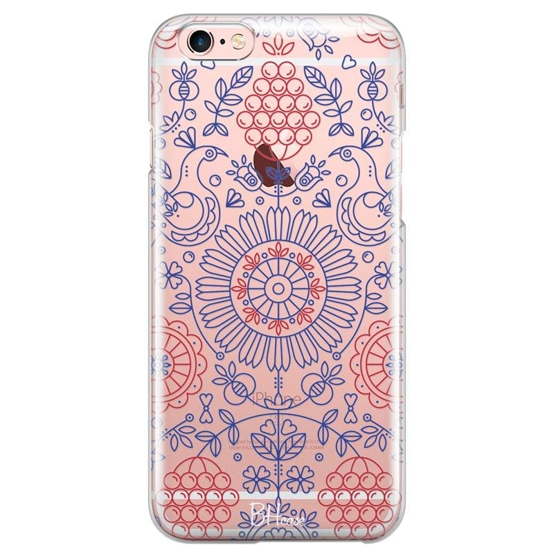 Blue Red Ornaments Case iPhone 6/6S