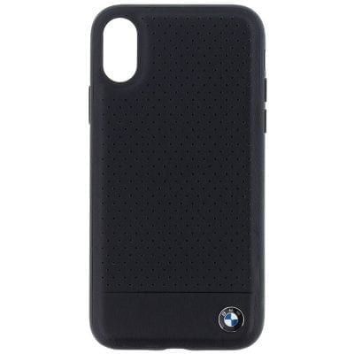 BMW Leather Signature TPU Smooth Black Case iPhone X/XS