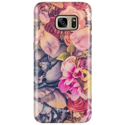 Colorful Flowers Case Samsung S7 Edge