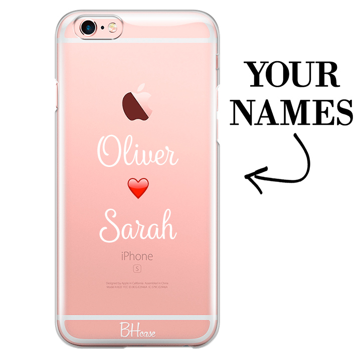 Case with double name for iPhone 6 Plus/6S Plus