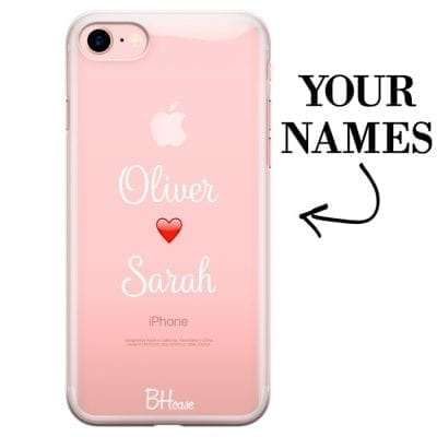 Case with double name for iPhone 7/8