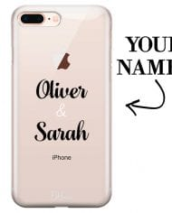 Case with double name for iPhone 7 Plus/8 Plus