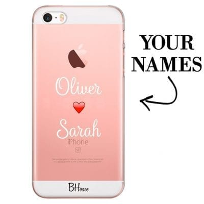 Case with double name for iPhone SE/5S
