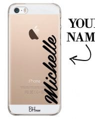 Case with vertical name for iPhone SE/5S