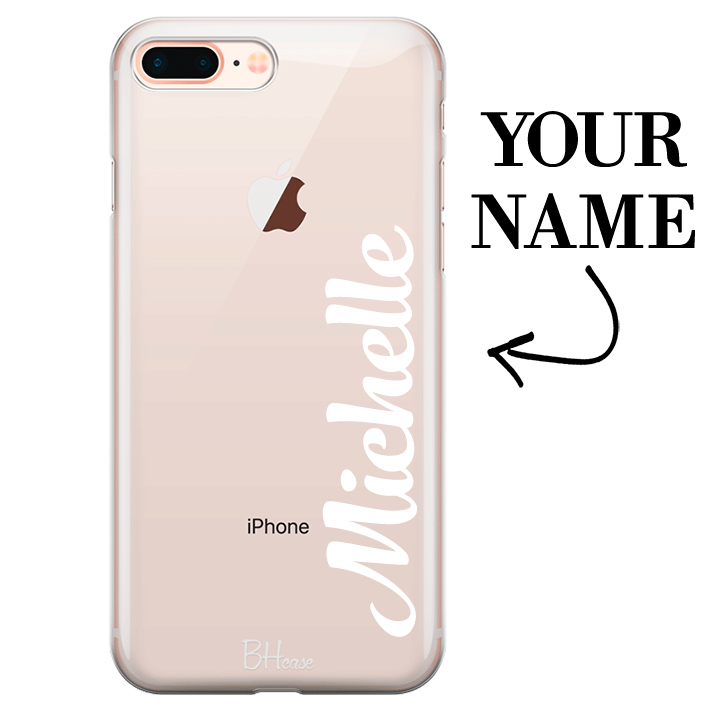 Case with vertical name for iPhone 7 Plus/8 Plus