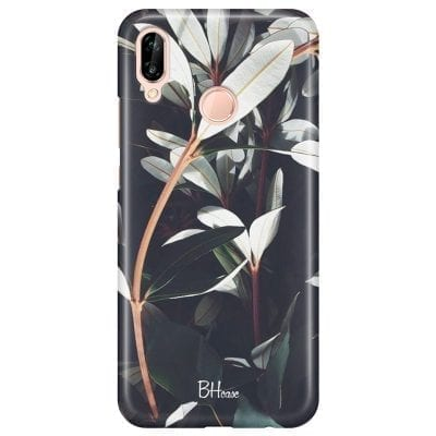Dark Leaves Case Huawei P20 Lite