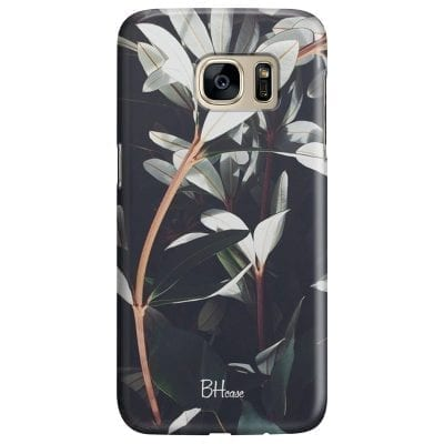 Dark Leaves Case Samsung S7