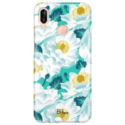 Floral Lime Case Huawei P20 Lite