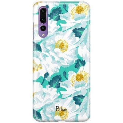 Floral Lime Case Huawei P20 Pro