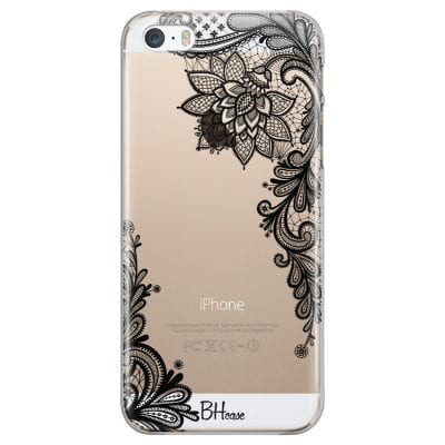 Flowers Black Case iPhone SE/5S
