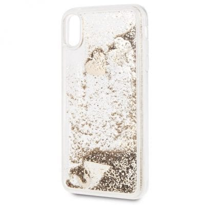Guess Glitter Hearts Gold Case iPhone XS Max