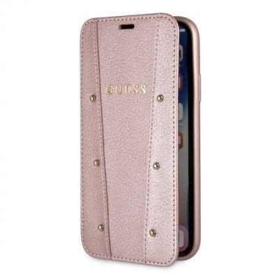 Guess Kaia Rose Gold Book Case iPhone XS Max