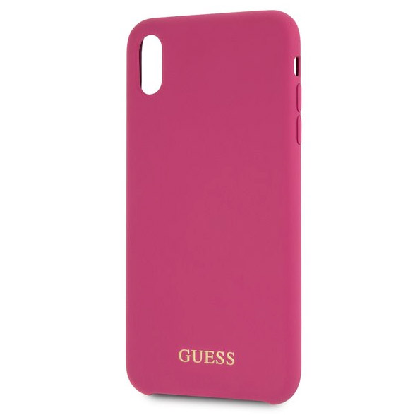 Guess Silicone Gold Logo Pink Case iPhone X/XS