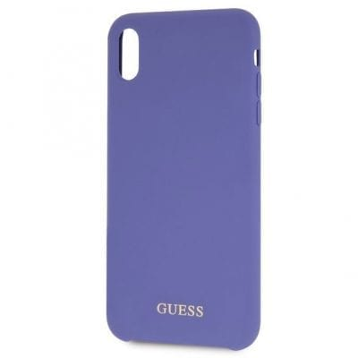 Guess Silicone Gold Logo Purple Case iPhone X/XS