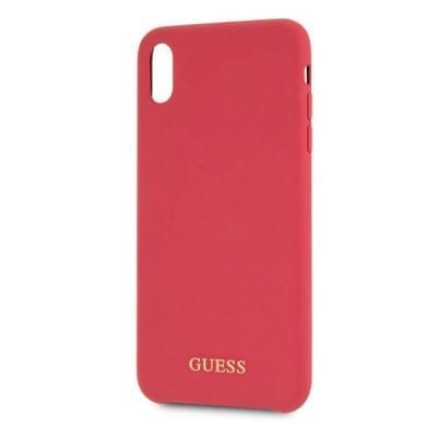 Guess Silicone Gold Logo Red Case iPhone XS Max
