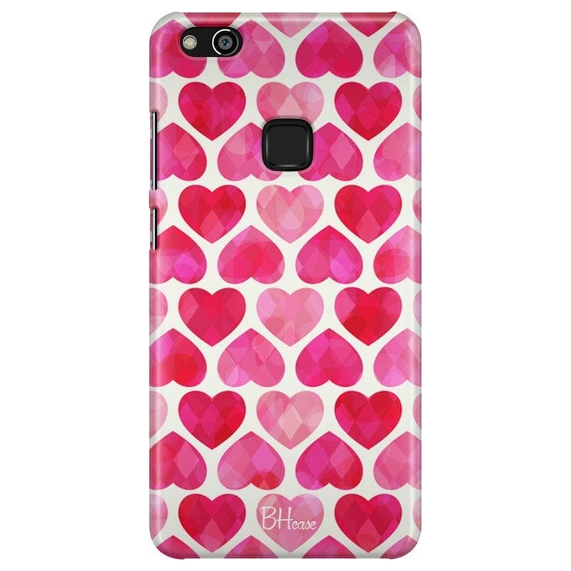 Hearts Pink Case Huawei P10 Lite