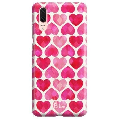 Hearts Pink Case Huawei P20
