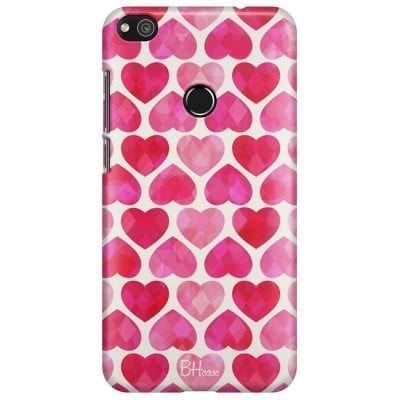Hearts Pink Case Huawei P8 Lite