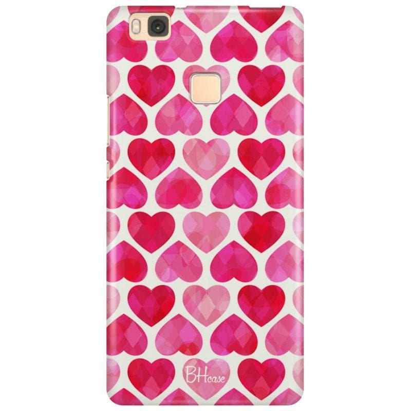 Hearts Pink Case Huawei P9 Lite