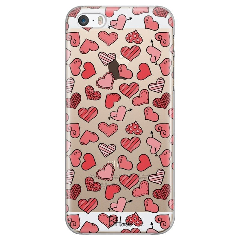 Hearts Red Case iPhone SE/5S