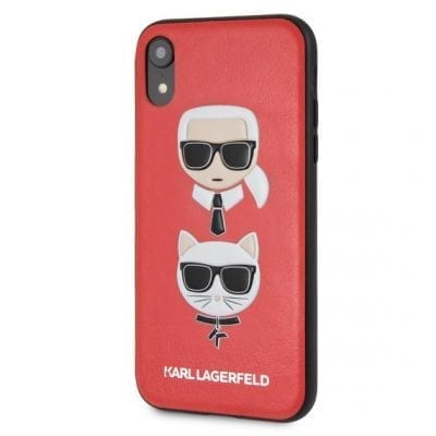 Karl Lagerfeld Karl And Choupette Red Hard Case iPhone XR