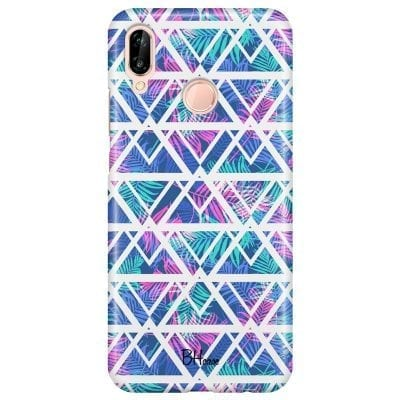 Leaves Geometric Pattern Case Huawei P20 Lite/Nova 3E