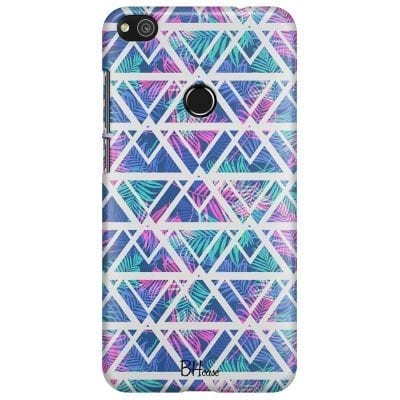 Leaves Geometric Pattern Case Huawei P8 Lite