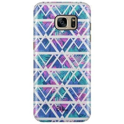 Leaves Geometric Pattern Case Samsung S7 Edge