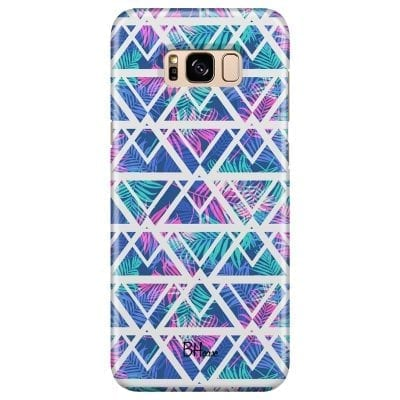 Leaves Geometric Pattern Case Samsung S8 Plus