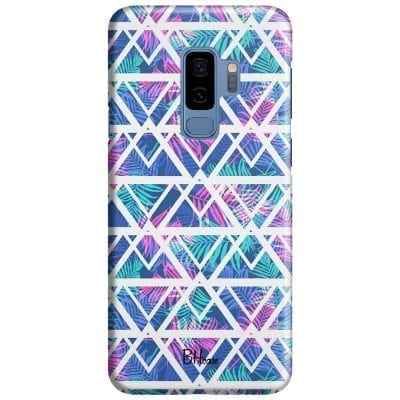 Leaves Geometric Pattern Case Samsung S9 Plus