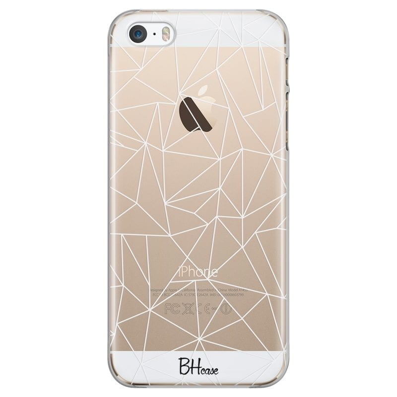 Lines White Net Case iPhone SE/5S