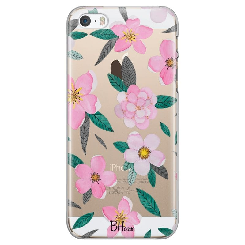 Pink Floral Case iPhone SE/5S