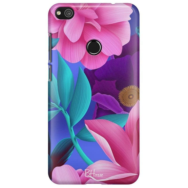 Pinky Floral Case Huawei P8 Lite