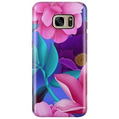 Pinky Floral Case Samsung S7 Edge
