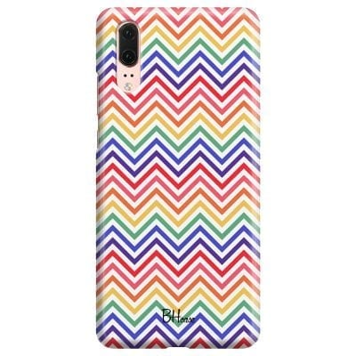 Rainbow Geometric Case Huawei P20