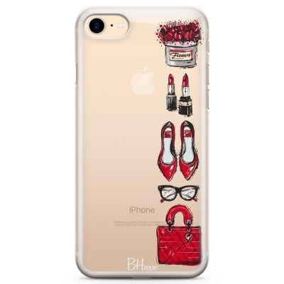 Red Fashion Case iPhone 7/8
