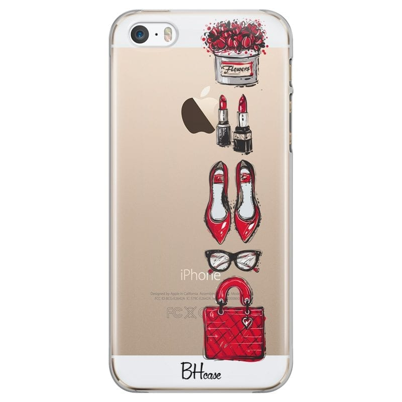 Red Fashion Case iPhone SE/5S