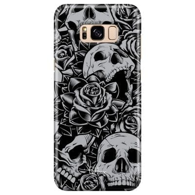 Skulls Rose Case Samsung S8 Plus