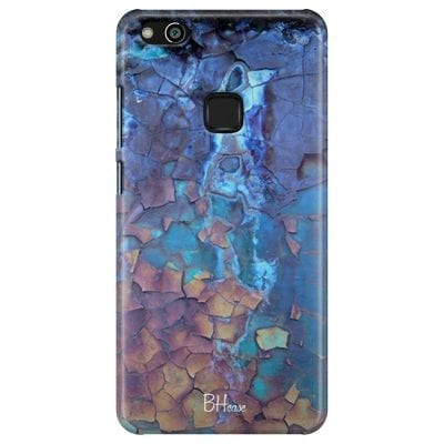Stone Cracked Blue Case Huawei P10 Lite
