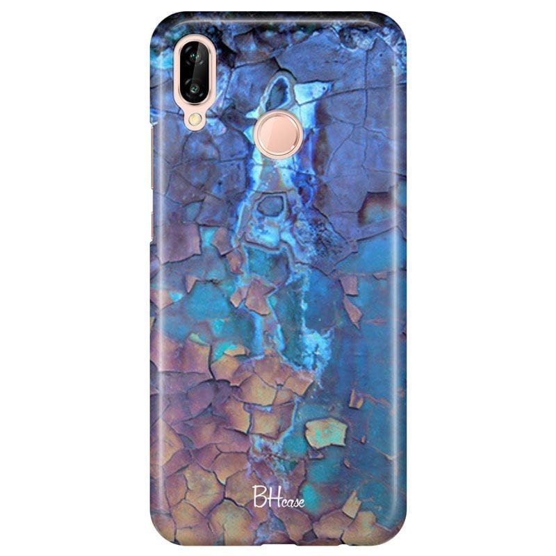 Stone Cracked Blue Case Huawei P20 Lite