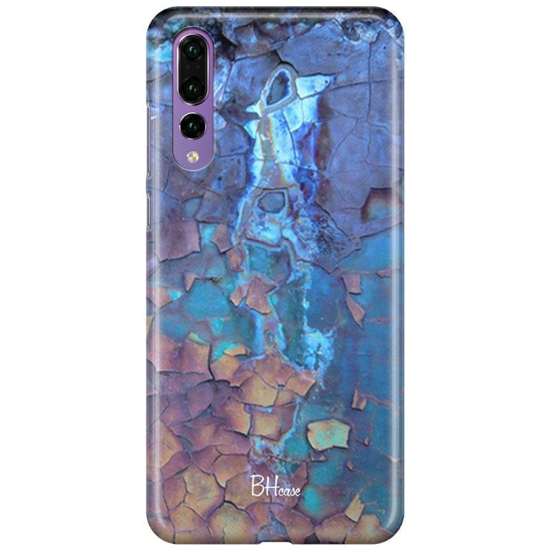 Stone Cracked Blue Case Huawei P20 Pro