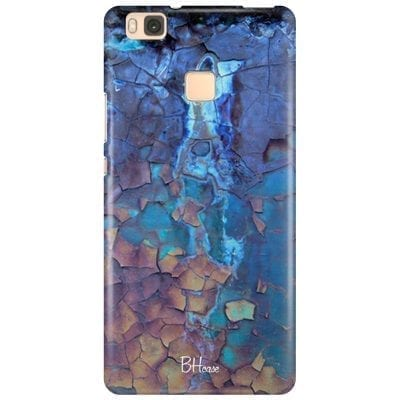 Stone Cracked Blue Case Huawei P9 Lite