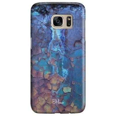 Stone Cracked Blue Case Samsung S7