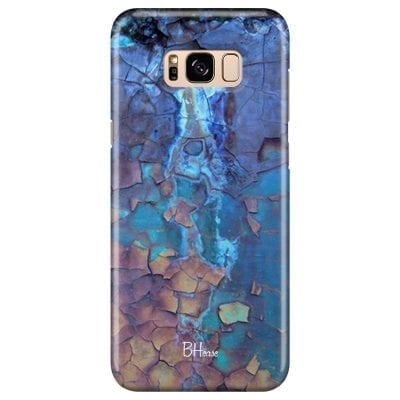Stone Cracked Blue Case Samsung S8 Plus