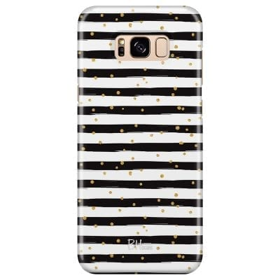 Stripes Gold Black White Case Samsung S8 Plus