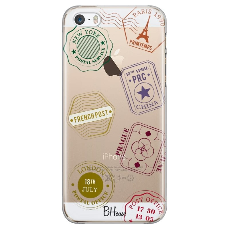 Travel Stamps Case iPhone SE/5S