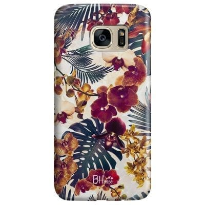 Tropical Floral Case Samsung S7