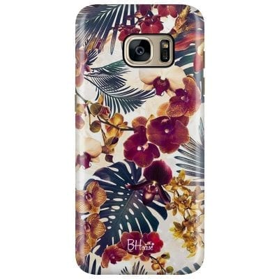 Tropical Floral Case Samsung S7 Edge