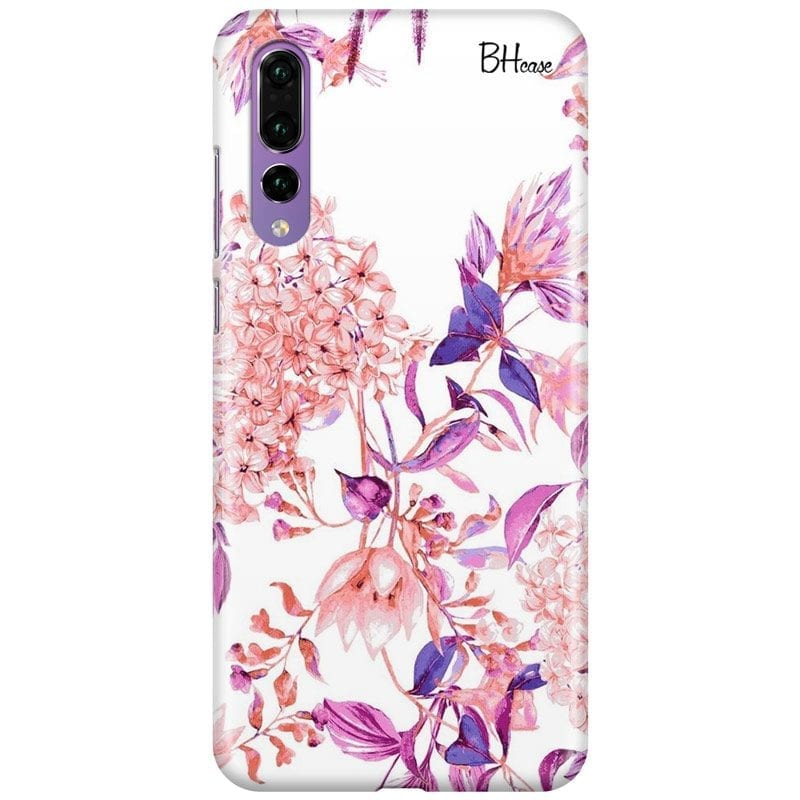 Vintage Pink Flowers Case Huawei P20 Pro